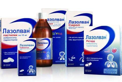 Формы выпуска муколитического препарата Лазолван