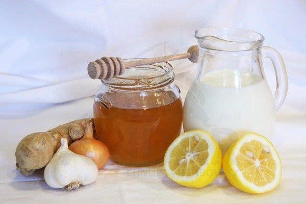 Фото полезных продуктов при простуде