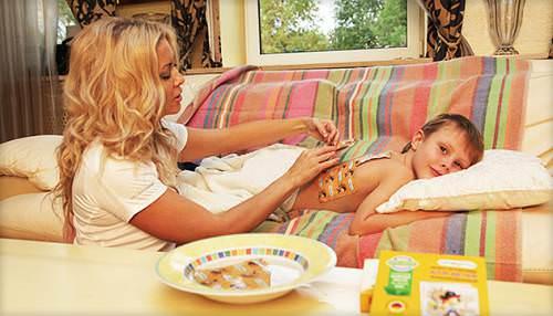 Горчичники - хорошее средство лечения кашля у ребенка