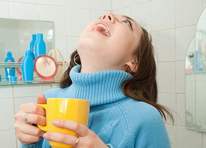 Правильное полоскание горла