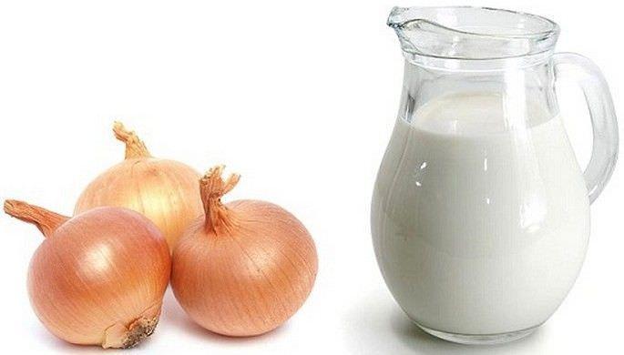 Молоко и лук при кашле