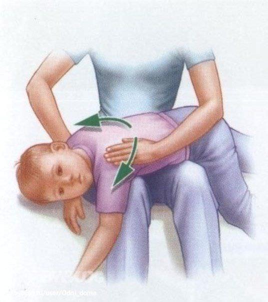 Положение ребенка при дренажном массаже