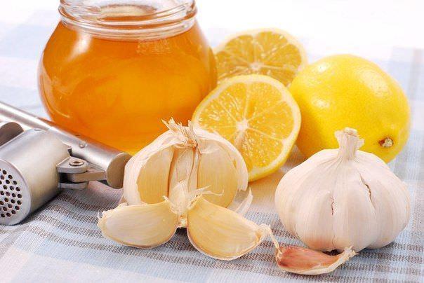 И мёд, и чеснок и лимон.
