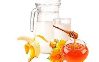 Молоко, банан и мед способны улучшить состояние больного уже на следующий день