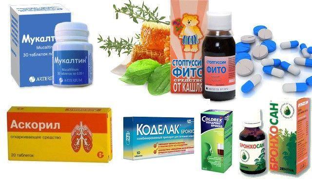 Некоторые медикаменты для лечения кашля