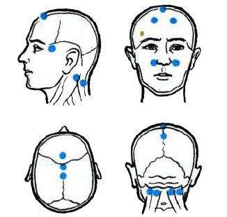 Что нужно массировать при головной боли