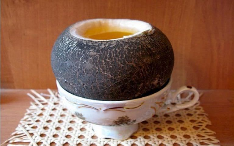 Фото черной редьки с медом