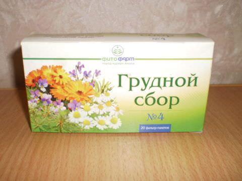 Грудной сбор №4 - популярное и эффективное средство для лечения кашля